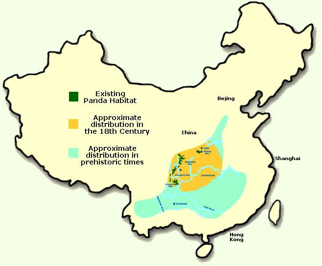 Panda Range Map